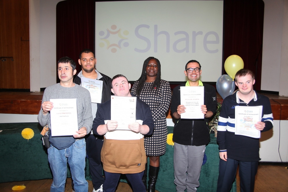 Students receiving certificates at our annual awards ceremony