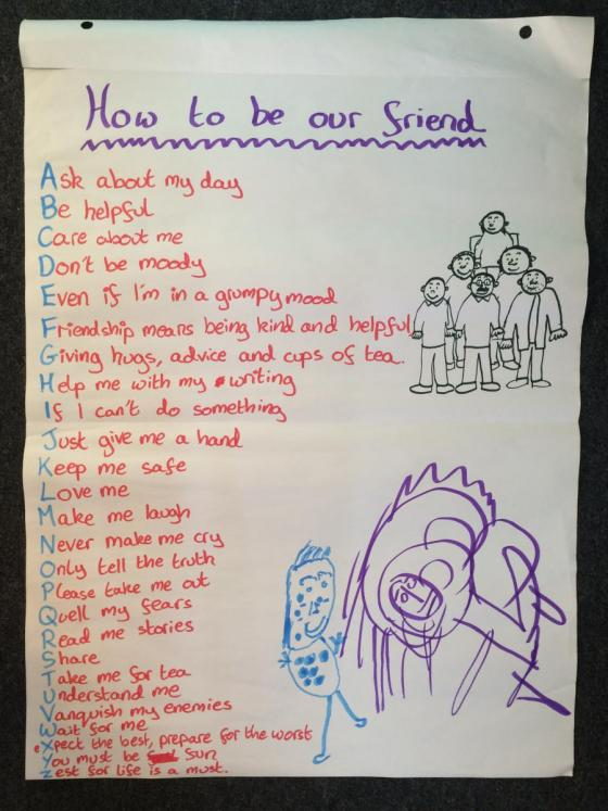 How to be our friend - a poem