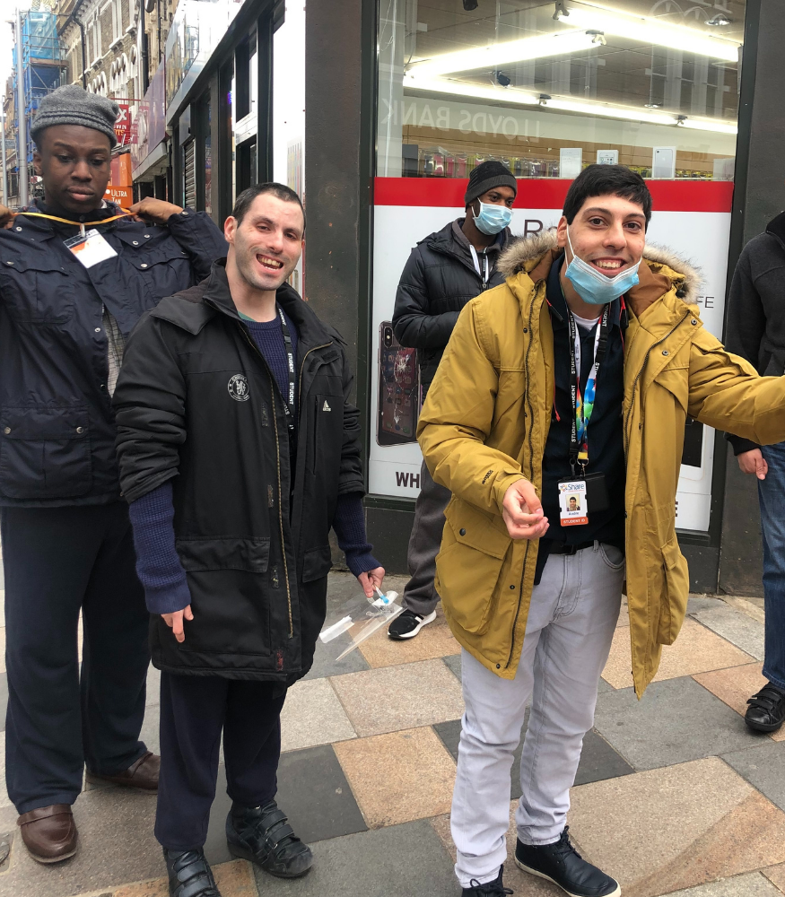Students out and about in the community