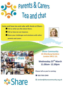 Carer Group Tea and Chat