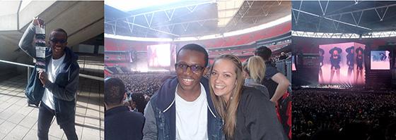 Jordan and Karen at the Beyoncé Concert