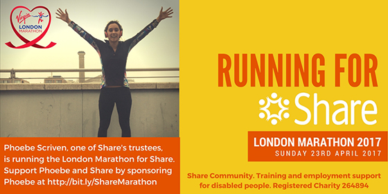 Phoebe Scriven running for Share