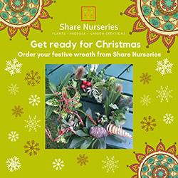 Christmas wreaths from Share Nurseries