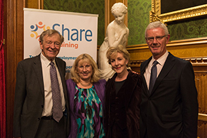 Share CEO and Chair, with Patrons Lord Alf Dubs and Patricia Hodge
