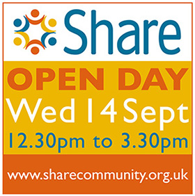Share Open Day September 2016