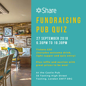Share Community Fundraising Pub Quiz