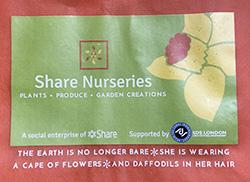 Share Nurseries bag