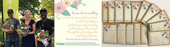Wedding flowers and poem