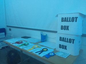 Share Election ballot box