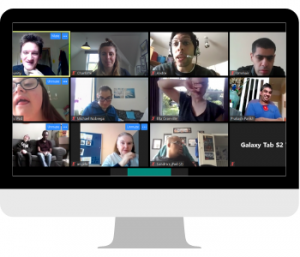 Students taking part in a Zoom session