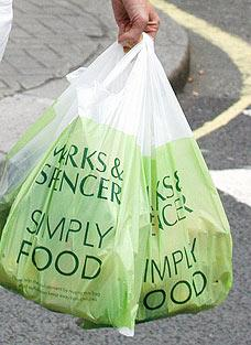 M&S carrier bag charge for charity