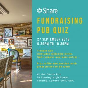 September 2018 Fundraising Pub Quiz