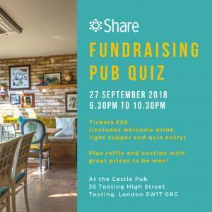 September 2018 Fundraising Pub Quiz