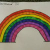 A beautiful rainbow, a symbol is used a lot during lockdown