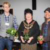 The Mayor of Wandsworth with the garden team