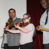 Students playing the violin