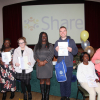 Students with their awards