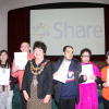 Students receiving their awards