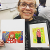 Students creating digital art