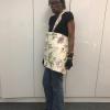 Doris modelling her bag