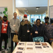 Students at Putney Library exhibition