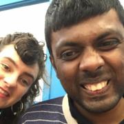 Thanush and his tutor Gina