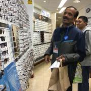 Harish at the optician