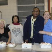Tracey with the baking group