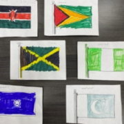 Flags for Black History Month